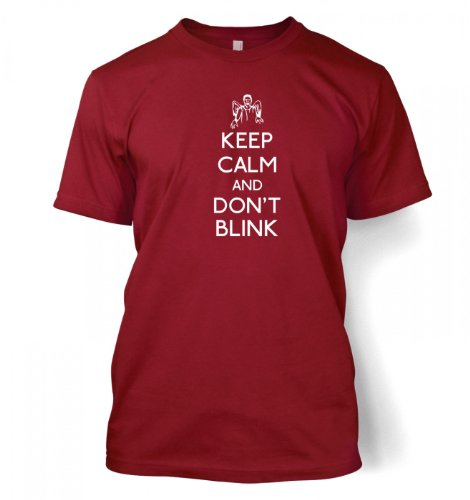 Keep Calm And Don't Blink T-shirt – Films, TV And Movie Geeky Tshirt – Cardinal
