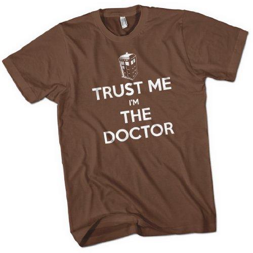 Trust Me I'm The Doctor Mens Premium T-Shirt Brown Medium