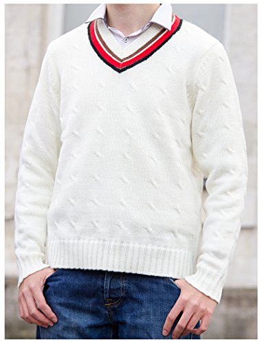 Large Fifth Doctor (Peter Davison) Sweater – Official BBC Doctor Who 5th Doctor Cricket Jumper