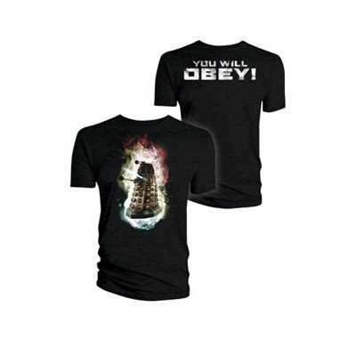 Doctor Who Dalek 'You will obey' T Shirt with BACKPRINT XL /L sizes
