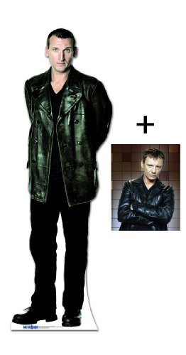 *FAN PACK* – CHRISTOPHER ECCLESTON (THE 9TH DOCTOR WHO) – BBC DOCTOR WHO / DR WHO / DR. WHO – LIFESIZE CARDBOARD CUTOUT (STANDEE / STANDUP) – INCLUDES 8X10 (25X20CM) STAR PHOTO – FAN PACK #192