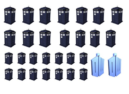 Easy to use nail art transfer stickers Doctor Who Tardis
