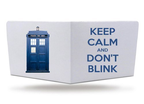 Keep Calm and Don't Blink Tv Show Doctor Police Tardis Box Paper Tyvek Wallet by PW OSFA