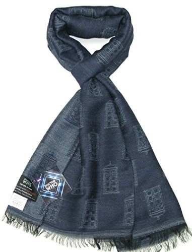 TARDIS Blue Scarf – Official BBC Licensed Doctor Who Scarf by LOVARZI – Memorabilia Gift