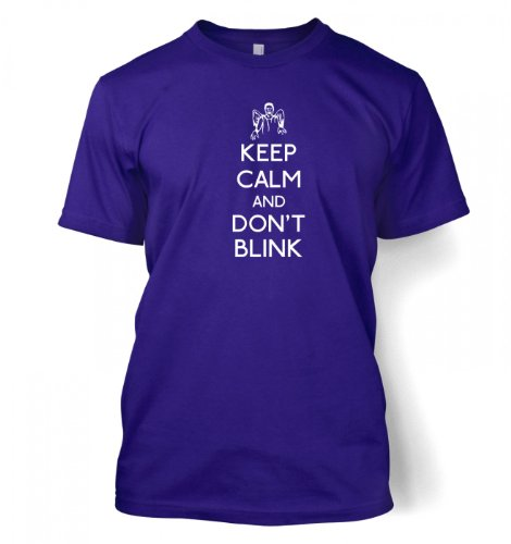 Keep Calm And Don't Blink T-shirt – Films, TV And Movie Geeky Tshirt – Purple