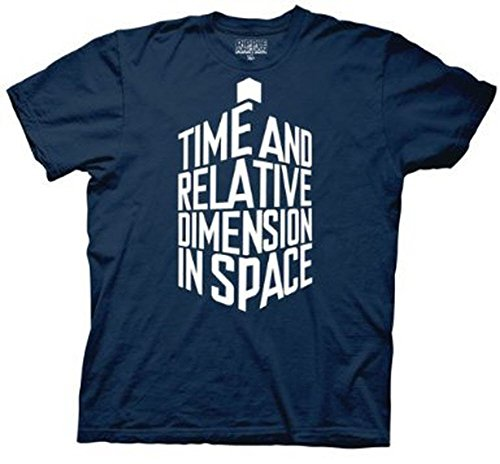 Doctor Who Tardis in Words men Navy T-shirt (Adult Small)
