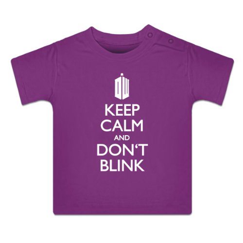 Keep Calm and Don't Blink Baby T-Shirt by Shirtcity