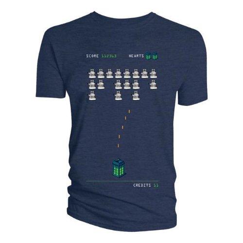 Doctor Who Dalek Space Invaders T-Shirt (Medium)
