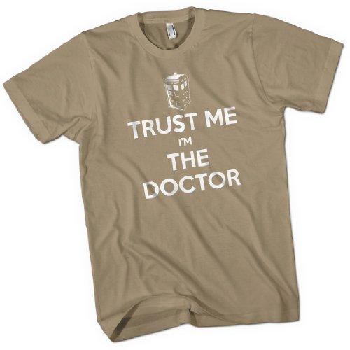 Trust Me I'm The Doctor Mens Premium T-Shirt Khaki Medium