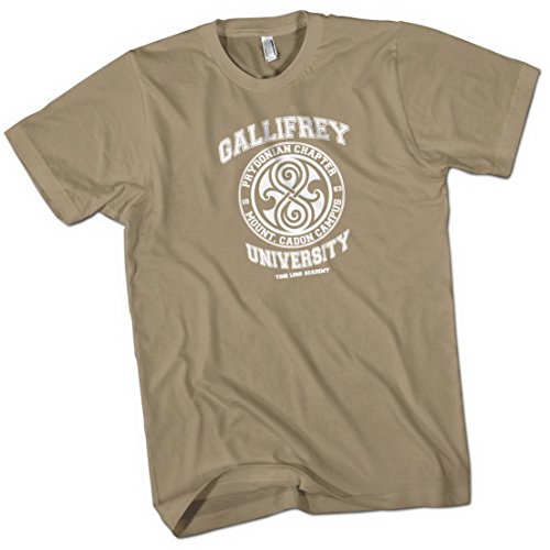 Gallifrey University Time Lord Acadeny Mens Premium T-Shirt Khaki X Large