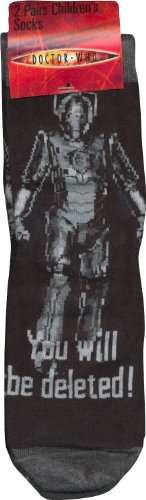 Cybermen Mens Socks x 2 Pairs (6-11)