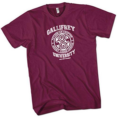 Gallifrey University Time Lord Acadeny Mens Premium T-Shirt Burgundy X Large