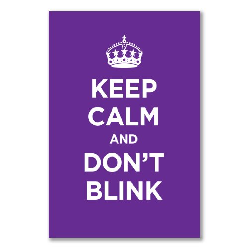 Poster art print: KEEP CALM DON'T BLINK PURPLE LILAC LAVENDER WW2 WWII PARODY SIGN (A1 maxi – 61×91.5cm / 24x36in, semi-gloss satin paper)