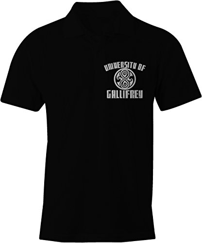 Gallifrey University Embroidered Polo Shirt ( Navy , Red or Black in S – XXL )