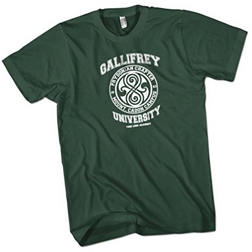 Gallifrey University Time Lord Acadeny Mens Premium T-Shirt Green X Large