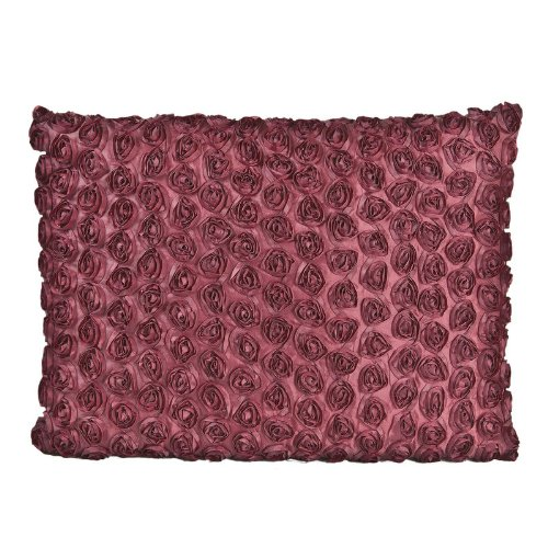 Landon Tyler 43 x 33 cm Cushion with Rose Pattern – Red