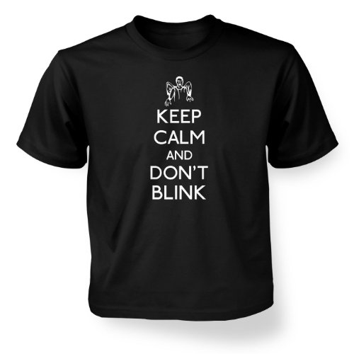 Keep Calm And Don't Blink Kids' T-shirt – Films, TV And Movie Geeky Tshirt