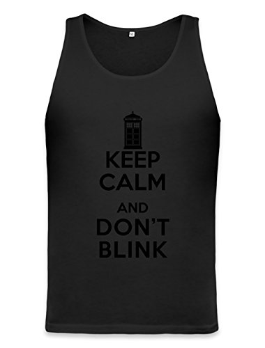 Keep Calm And Don't Blink Unisex Tank Top Medium