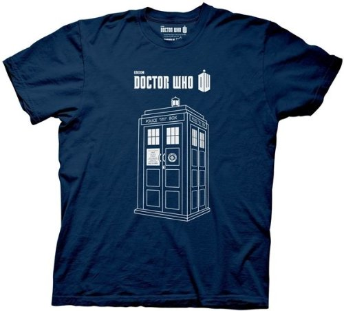 Doctor Who Series 7 Linear Tardis Men's Navy Blue T-Shirt | L