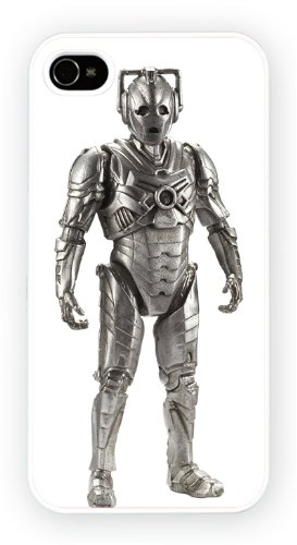 Doctor Who cybermen TV, durable glossy case for the iPhone 4 and 4S