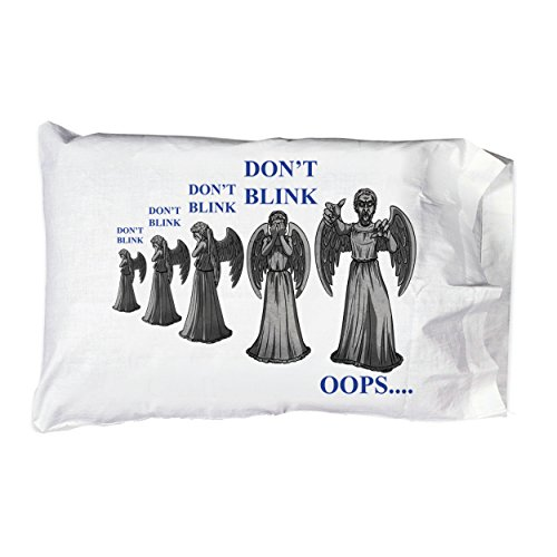 Weeping Angels ANGEL Don't Blink Parody Tv Show Colorful Pillow Case Pillowcase