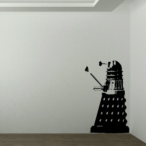 (M)LARGE DR WHO DALEK CHILDRENS BEDROOM WALL MURAL GIANT ART STICKER VINYL DECAL (Medium) 700mmH 430mmW