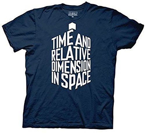 Doctor Who Tardis in Words men Navy T-shirt (Adult XX-Large)