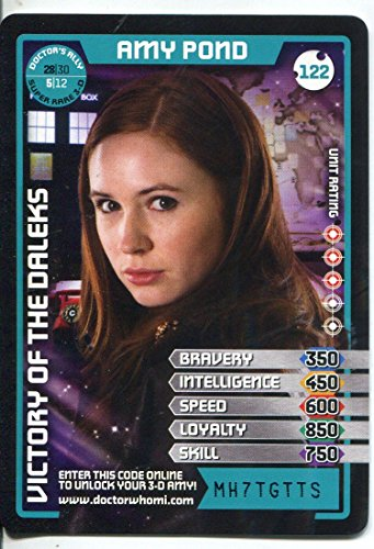 Doctor Who Monster Invasion Card #122 Amy Pond