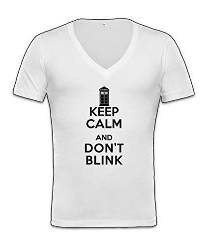 Keep Calm And Don't Blink Unisex Deep V-Neck T-Shirt