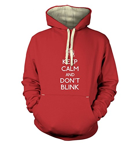 Keep Calm And Don't Blink Hoodie (premium) – Dusty Red X Small (36″ Chest)