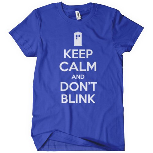 Womens Keep Calm and Don't Blink Dr Tardis Who Time Lord BBC Angels 11th Doctor