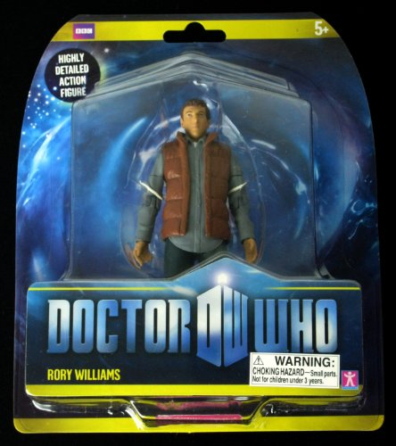 DOCTOR WHO USA Exclusive RORY WILLIAMS Variant Action Figure (Blue Shirt – Red/Brown Vest)