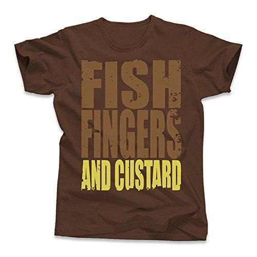 Fish Fingers & Custard Dr Who.jpg, Kid's T-Shirt, Chocolate, Small