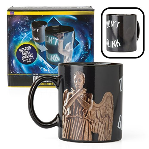 Doctor Who Mug – Weeping Angel Coffee Cup – Design Changes with Heat