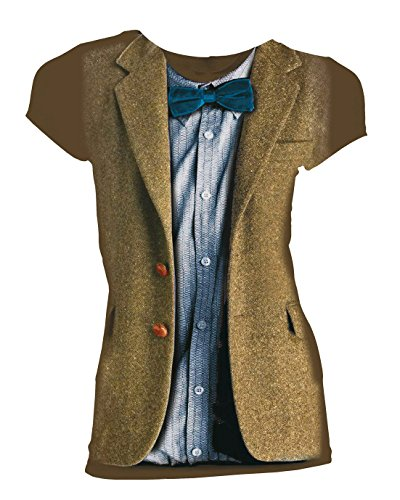 Doctor Who Matt Smith 11th Doctor Costume Juniors T-Shirt (XX-Large)