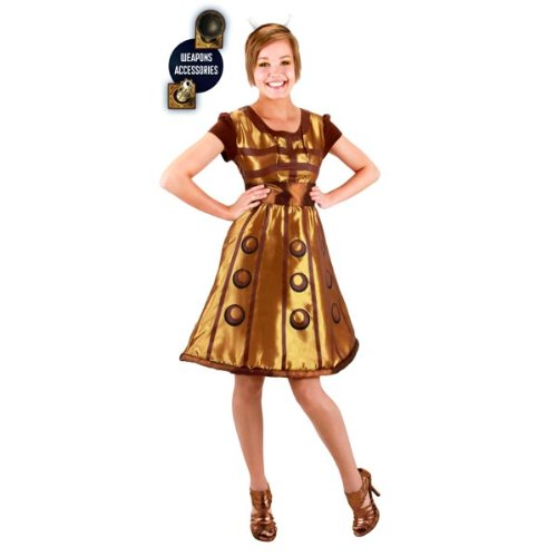 Elope Women's Doctor Who Gold Dalek Dress L/XL Gold