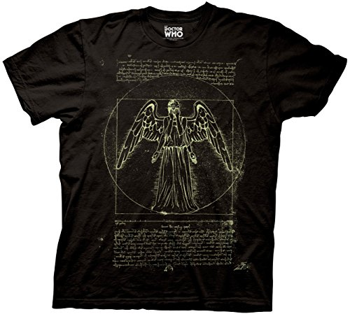 Doctor Who Vitruvian Weeping Angel Glow In The Dark Vitruvian Weeping Angel Ripple Junction 2XL
