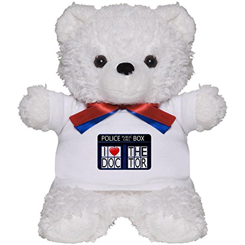 Teddy Bear White Police Call Box I Love Doctor Who