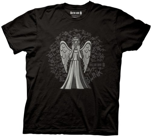 Doctor Who Animated Weeping Angel Don't Blink T-shirt (Large, Black)