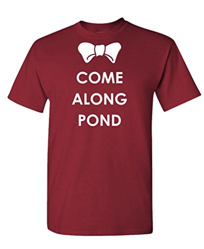 COME ALONG POND – the doctor amy rory Tee Shirt T-Shirt, 2XL, Maroon