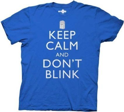 Doctor Who Keep Calm And Don't Blink T-shirt, Royal Blue, XXX-Large