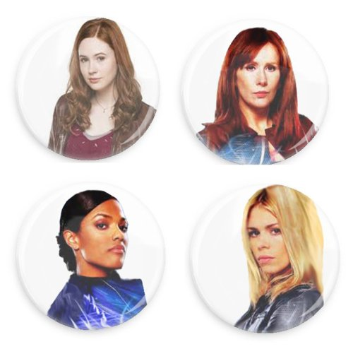 Doctor Who Companion 1.5 Inch Pin Back Buttons Value Pack