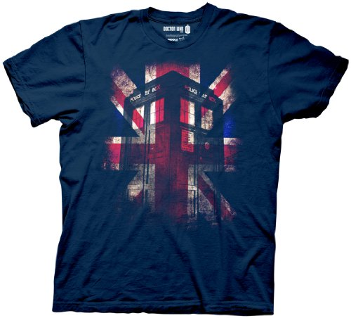 Doctor Who T-Shirt – Glowing Union Jack Tardis Tee M