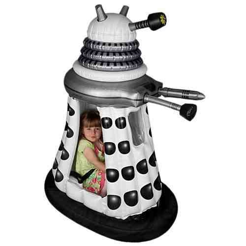 Doctor Who Childrens 6V White Supreme Dalek Ride In