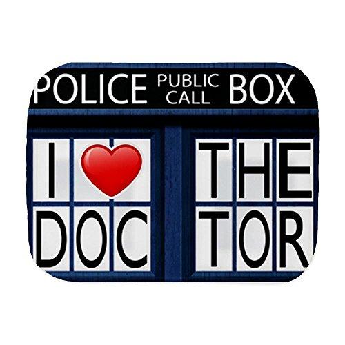 Royal Lion Baby Burp Cloth Police Call Box I Love Doctor Who