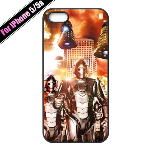 Doctor Who Aliens Daleks and Cybermen Cool Hard Plastic Customized Case for iPhone 4/4s 5/5s 5C,