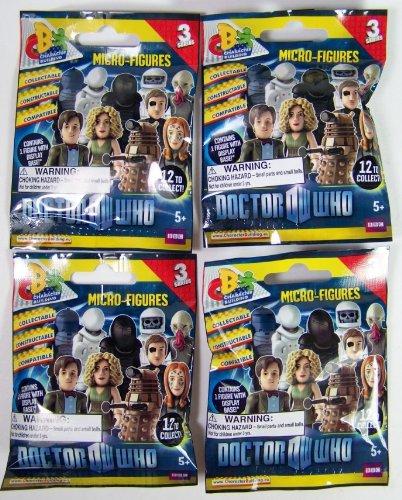 Doctor Who Micro Character Building Figures Series 3 Set of 4 Random Blind Packs