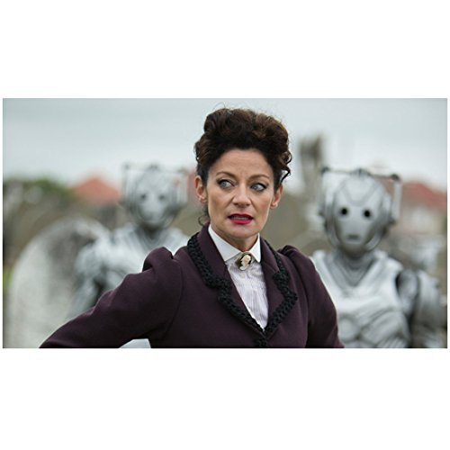 Doctor Who 8 x 10 Photo Doctor Who Michelle Gomez/The Master Cybermen in Background kn
