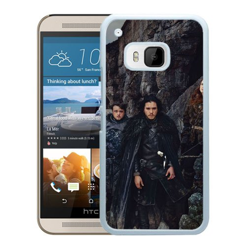 M9 Phone cases, Game Of Thrones Kit Harington Sophie Turner Maisie Williams Rory Mccann Rose Leslie John Bradley Kristian Nairn Aidan Gillen Conleth Hill Isaac Hempstead Wright White HTC ONE M9 cell phone case