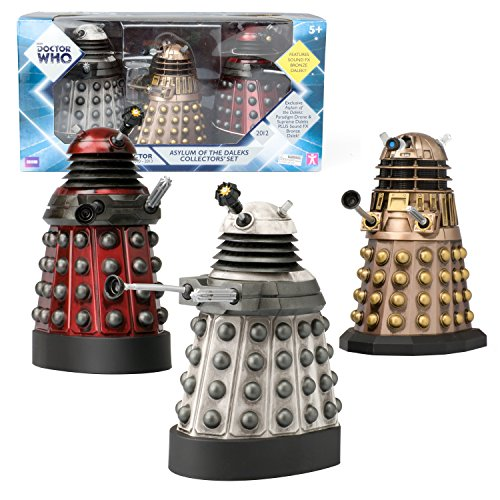 Doctor Who Action Figures – Dalek Asylum Set – Measures 5-6″ Tall, Bronze Collectible Has Sound FX
